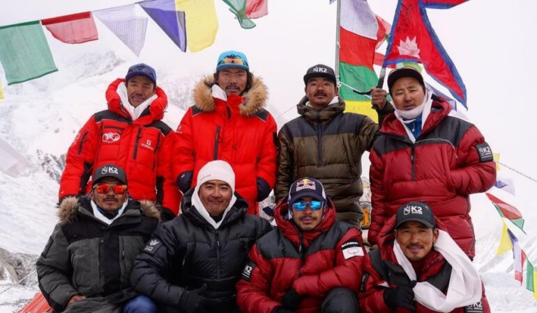 Nepali team winter k2 submit